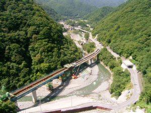 写真 建設中のうすゆき橋