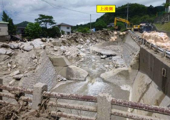 写真 被害直後の町道橋