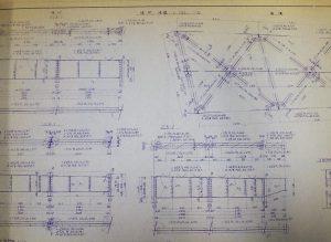 写真 竣工当時の設計図