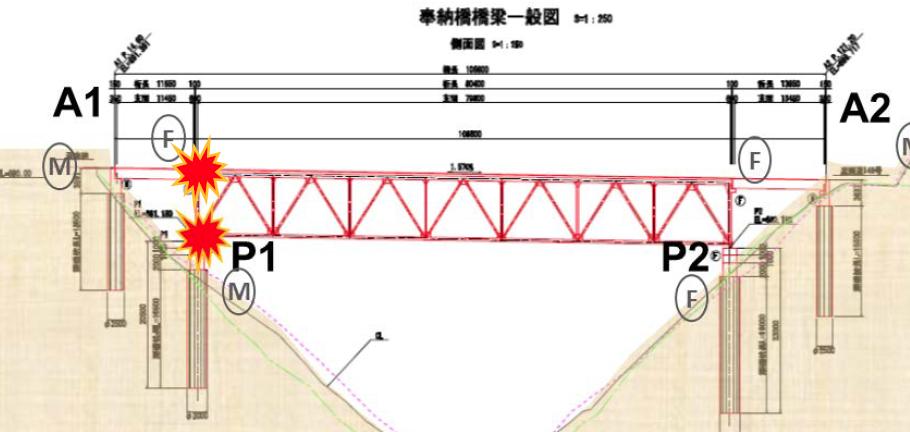 奉納大橋側面図