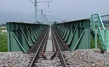 梓川橋(鉄道橋)断面写真