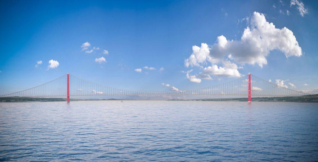 1915チャナッカレ橋 完成予想図