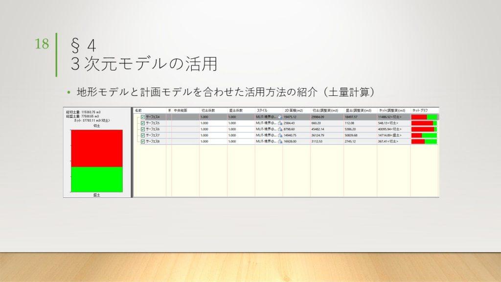 土量計算スライド