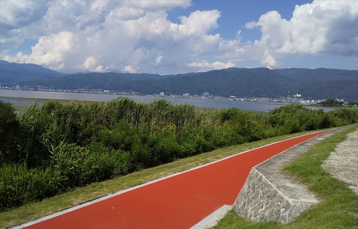 諏訪湖サイクリングロード